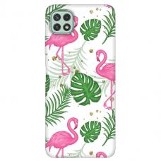 "Samsung Galaxy A22 5G TPU dėklas unikaliu dizainu 1.0 mm ""u-case Airskin Flamingos design"""