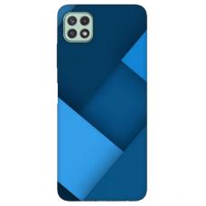 """Samsung Galaxy A22 5G TPU dėklas unikaliu dizainu 1.0 mm """"u-case Airskin Blue design"""""""