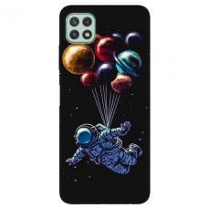 """Samsung Galaxy A22 5G TPU dėklas unikaliu dizainu 1.0 mm """"u-case Airskin Cosmo design"""""""