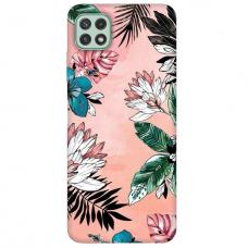 """Samsung Galaxy A22 5G TPU dėklas unikaliu dizainu 1.0 mm """"u-case Airskin Flowers 1 design"""""""