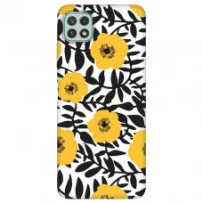 """Samsung Galaxy A22 5G TPU dėklas unikaliu dizainu 1.0 mm """"u-case Airskin Flowers 2 design"""""""