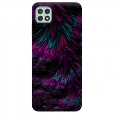 """Samsung Galaxy A22 5G TPU dėklas unikaliu dizainu 1.0 mm """"u-case Airskin Feather design"""""""