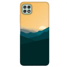 "Samsung Galaxy A22 5G TPU dėklas unikaliu dizainu 1.0 mm ""u-case Airskin Mountains 2 design"""