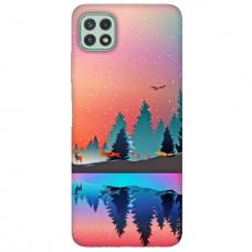 """Samsung Galaxy A22 5G TPU dėklas unikaliu dizainu 1.0 mm """"u-case Airskin Nature 5 design"""""""