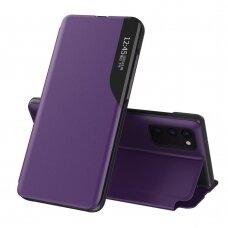 Samsung galaxy a32 4g atverčiamas dėklas SMART FLIP violetinis