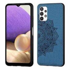 Samsung galaxy A32 4g dėklas Mandala TPU+ medžiaginis pluoštas mėlynas
