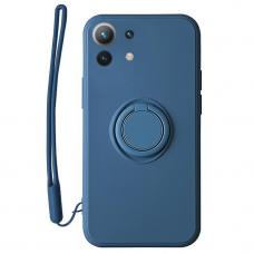 Xiaomi Mi 11 Lite dėklas su magnetu Pastel Ring mėlynas