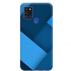 """Samsung Galaxy A21s TPU dėklas unikaliu dizainu 1.0 mm """"u-case Airskin Blue design"""""""