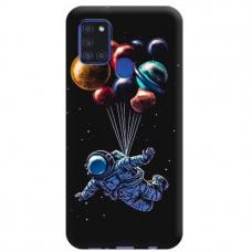 """Samsung Galaxy A21s TPU dėklas unikaliu dizainu 1.0 mm """"u-case Airskin Cosmo design''"""