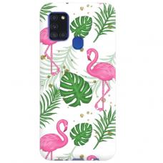 "Samsung Galaxy A21s TPU dėklas unikaliu dizainu 1.0 mm ""u-case Airskin Flamingos design"""