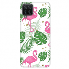 "Samsung Galaxy A12 TPU dėklas unikaliu dizainu 1.0 mm ""u-case Airskin Flamingos design"""