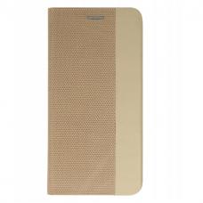 Akcija! Xiaomi note 8t atverčiamas dėklas Vennus SENSITIVE book auksinis