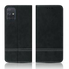 Samsung Galaxy M31s atverčiamas dėklas/piniginė SMART SUEDE juodas