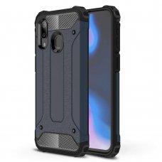 Samsung galaxy a40 dėklas Hybrid Armor  TPU+PC plastikas tamsiai mėlynas