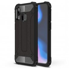Akcija! Samsung galaxy A40 dėklas Hybrid Armor TPU+PC plastikas juodas