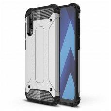 Samsung galaxy a70 dėklas Hybrid Armor  TPU+PC plastikas sidabrinis