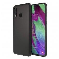 Samsung galaxy A40 dėklas Liquid Silicone juodas