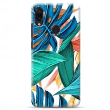 """Samsung Galaxy A40 TPU dėklas unikaliu dizainu 1.0 mm """"u-case Airskin Leaves 1 design"""""""