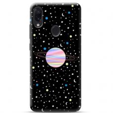 """Samsung Galaxy A40 TPU dėklas unikaliu dizainu 1.0 mm """"u-case Airskin Planet design"""""""
