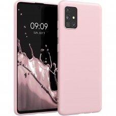 samsung galaxy a41 dėklas FOSCA CASE silikonas rožinis