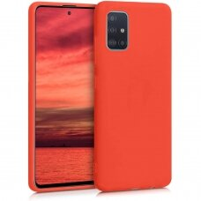 Samsung galaxy A41 dėklas Liquid Silicone raudonas