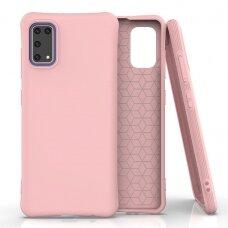 Samsung galaxy A41 dėklas Soft Color TPU šviesiai rožinis