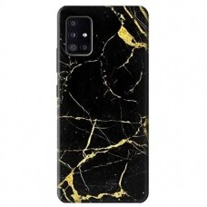 Samsung galaxy a41 dėklas Vennus Marble silicon juodas