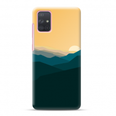 "Samsung Galaxy a41 TPU dėklas unikaliu dizainu 1.0 mm ""u-case Airskin Mountains 2 design"""