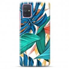 """Samsung Galaxy a41 TPU dėklas unikaliu dizainu 1.0 mm """"u-case Airskin Leaves design"""""""