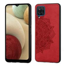 Samsung galaxy A42 dėklas Mandala TPU+ medžiaginis pluoštas raudonas