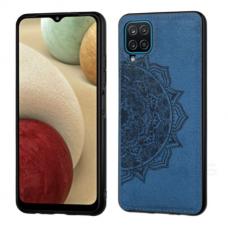 Samsung galaxy A42 dėklas Mandala TPU+ medžiaginis pluoštas tamsiai mėlynas