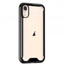iphone xr dėklas Protect Acrylic PC+TPU juodais kraštais