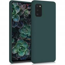 Samsung Galaxy A03s dėklas TPU rubber tamsiai žalias