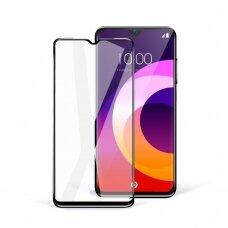 Akcija! Samsung Galaxy A42 LCD Apsauginis Stikliukas 5D Full Glue Ceramic Glass Lenktas Juodais Kraštais