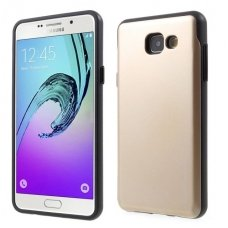 Samsung galaxy A5 2016 dėklas MERCURY SKY SLIDE AUKSO SPALVOS PLASTIKAS SU VIETA KORTELĖMS
