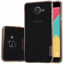 Samsung galaxy A5 2016 dėklas Nillkin Nature rudas permatomas 0,6 mm TPU