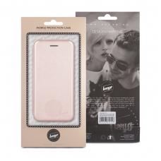 Samsung Galaxy A5 2017 atverčiamas dėklas Diva eco oda rožinis