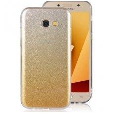 samsung galaxy a5 2017 dėklas glitter silikonas sidabrinis-auksinis