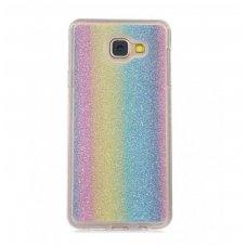 samsung galaxy a5 2017 dėklas glitter silikonas rainbow