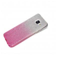 samsung galaxy a5 2017 dėklas glitter silikonas sidabrinis-rožinis