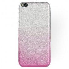 xiaomi redmi go dėklas glitter silikonas sidabrinis-rožinis