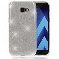 samsung galaxy a5 2017 dėklas glitter silikonas sidabrinis