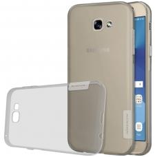 Samsung Galaxy A5 2017 dėklas Nillkin Nature Silikoninis permatomas, pilkas