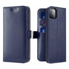 iphone 11 atverčiamas dėklas Dux ducis kado PU oda tamsiai mėlynas