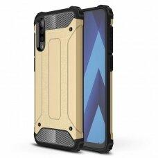 Akcija ! Samsung galaxy a70 dėklas Hybrid Armor  TPU+PC plastikas auksinis