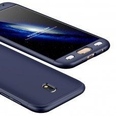 Samsung galaxy J5 2017 HURTEL dėklas dvipusis 360 plastikas mėlynas