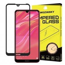 Huawei Y5 2019/ Honor 8s lenktas grūdintas apsauginis stiklas wozinsky H Pro 5D FULL GLUE juodais kraštais
