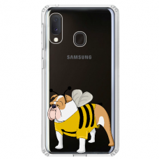 "Samsung Galaxy A40 TPU dėklas unikaliu dizainu 1.0 mm ""u-case Airskin Doggo 1 design"""