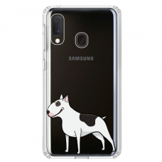 "Samsung Galaxy A40 TPU dėklas unikaliu dizainu 1.0 mm ""u-case Airskin Doggo 3 design"""