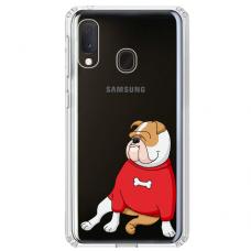 "Samsung Galaxy A40 TPU dėklas unikaliu dizainu 1.0 mm ""u-case airskin Doggo 5 design"""